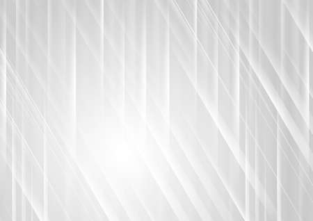 Gray smooth and glossy lines abstract geometric futuristic background. Vector design Vettoriali