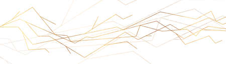 Luxury golden curved lines abstract geometric background. Vector banner design