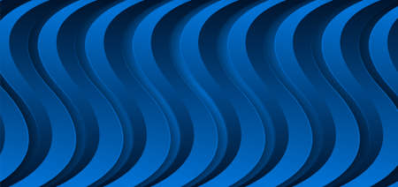 Blue corporate material waves abstract modern background. Vector design Vettoriali