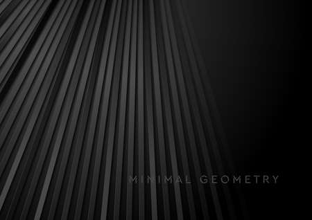 Black stripes abstract technology geometric background. Vector design