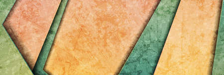 Contrast green and orange abstract grunge tech banner design. Old wall concrete texture background. Vector illustration
