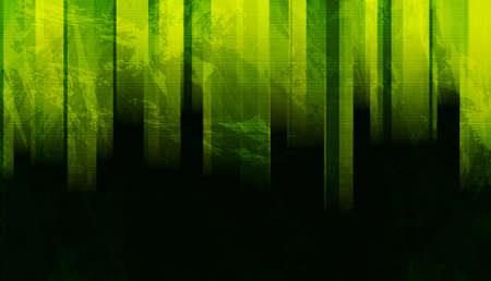 Green and black stripes abstract grunge tech background. Vector design