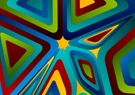 Colorful tech abstract low poly pattern vector background Vettoriali