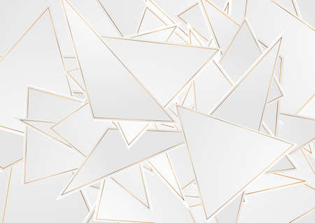 Gray and golden tech abstract low poly pattern vector background Vettoriali