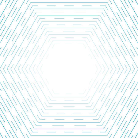Blue hexagonal lines abstract futuristic technology background. Vector design