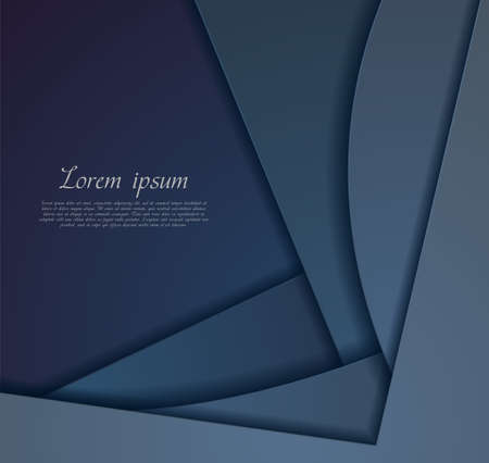 Dark blue corporate material abstract wavy background. Vector illustration Vettoriali