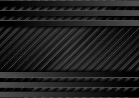 Black stripes abstract technology geometric background. Vector concept design
