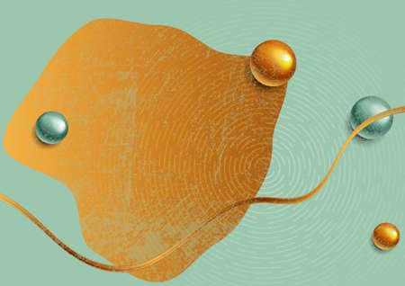 Abstract concept minimal pastel geometric art background. Grunge vector design