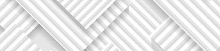 Abstract minimal geometric background with gray and white stripes. Vector technology banner design Vettoriali