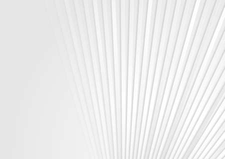 White minimal stripes abstract technology geometric background. Vector design Vettoriali