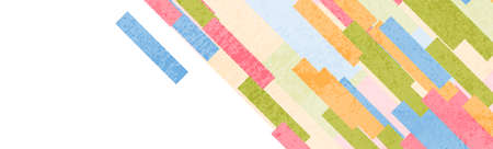 Colorful pastel stripes abstract grunge geometric minimal background. Vector banner design
