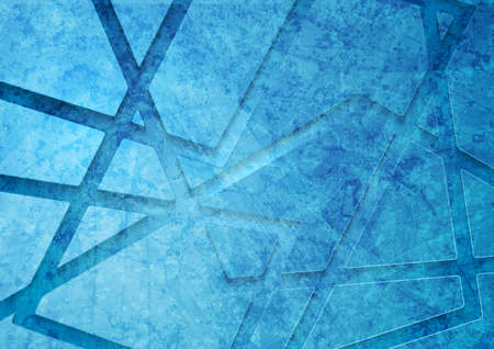 Bright blue grunge corporate geometric abstract background. Vector design Vectores