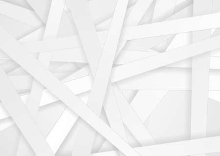 White paper stripes abstract minimal background. Vector design