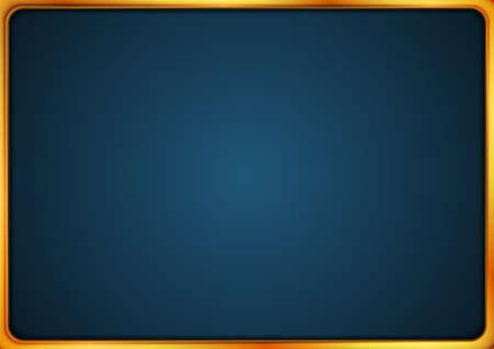 Bright luxury frame on dark blue background. Vector illustration Vectores