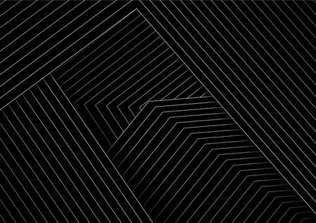 Abstract black minimal background with white lines. Vector geometric design Vectores