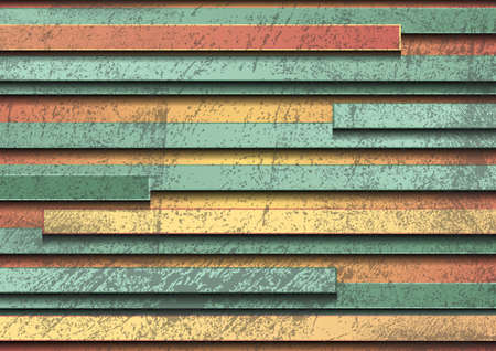 Pastel yellow and green stripes grunge geometric background. Abstract hi-tech vector design