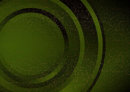 Dark green and golden abstract tech geometric