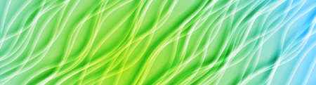 Light blue and green smooth blurred waves abstract