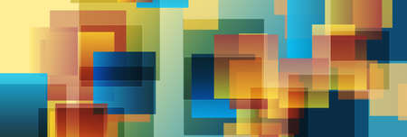 Colorful glossy squares abstract technology