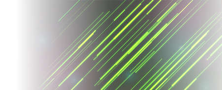 Bright green neon lines abstract tech