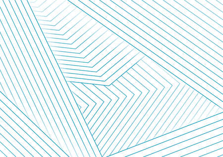 Abstract white minimal background with cyan blue lines. Vector geometric design Vectores
