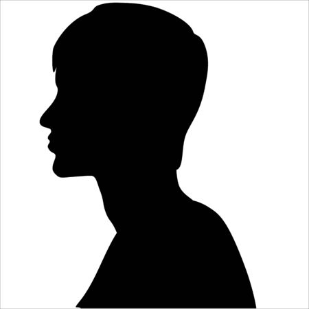 A silhouette of a person. isolated on a white background.