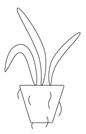 plant for transplanting, soil, leaves on a white background vector illustration