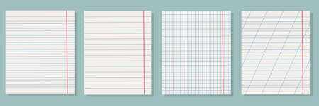 a set of notebook sheets.isolated vector illustration  イラスト・ベクター素材