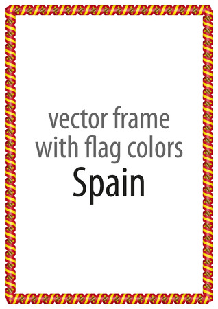 authenticity: Frame and border of ribbon with the colors of the Spain flag