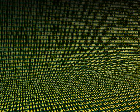 bytes: Background of digits zero and one. 3D illustration Stock Photo