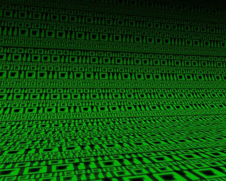 bytes: Background of green digits zero and one. 3D illustration