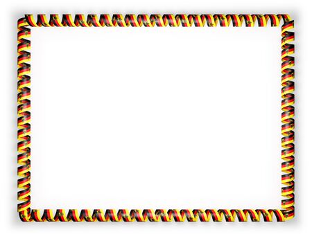 authenticity: Frame and border of ribbon with the Germany flag. 3d illustration Stock Photo