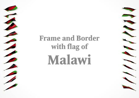 authenticity: Frame and border with flag of Malawi. 3d illustration