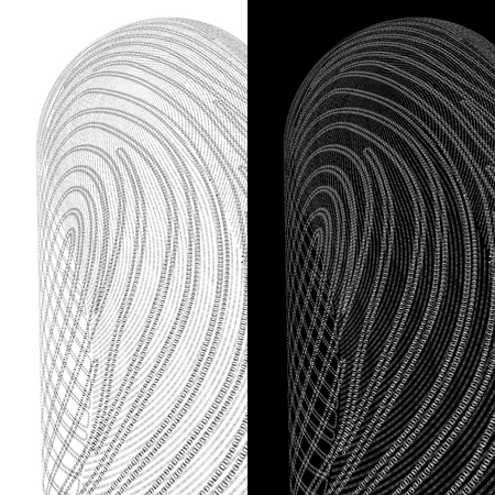 Cybersecurity. Fingerprint on a background of zeros and ones Stock Photo