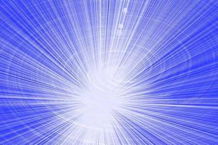 blue background of rays emerging from the center and a glowing spiral