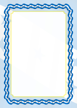 Frame and border of ribbon with Honduras flag, template elements for your certificate and diploma. Vector.