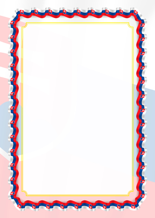 Frame and border of ribbon with Slovakia flag, template elements for your certificate and diploma. Vector.