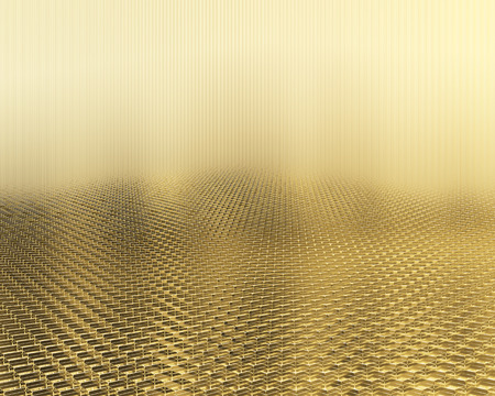 Abstract background cubic gold bars. 3d illustration Фото со стока