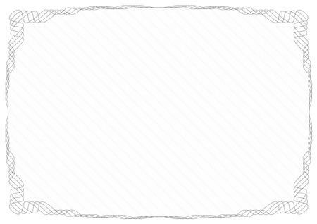 Gray frame border with security protective grid. Illustration