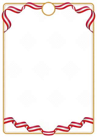 Frame and border of ribbon with the colors of the Denmark flag, template elements for your certificate and diploma
