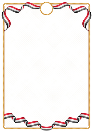 Frame and border of ribbon with the colors of the Iraq flag, template elements for your certificate and diploma Illusztráció