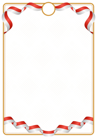 Frame and border of ribbon with the colors of the Switzerland flag, template elements for your certificate and diploma