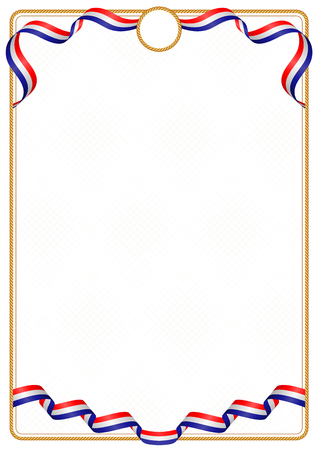 Frame and border of ribbon with the colors of the Croatia flag, template elements for your certificate and diploma