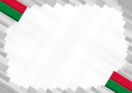 Border made with Maldives national colors. template elements for your certificate and diploma. Horizontal orientation. Vector