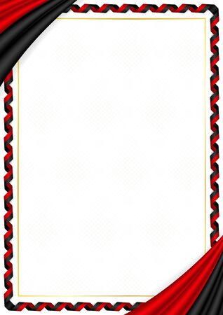Border made with Montenegro national colors. Template elements for your certificate and diploma. Horizontal orientation. Vector