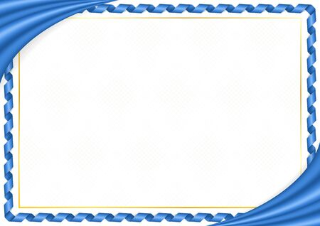 Border made with Somalia national colors. Template elements for your certificate and diploma. Horizontal orientation. Vector Illustration