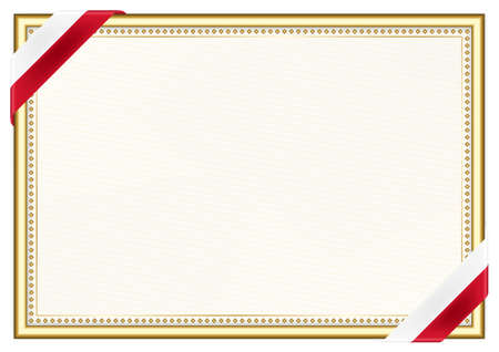 Horizontal frame and border with Malta flag, template elements for your certificate and diploma. Vector.