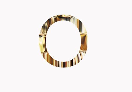Golden letter O