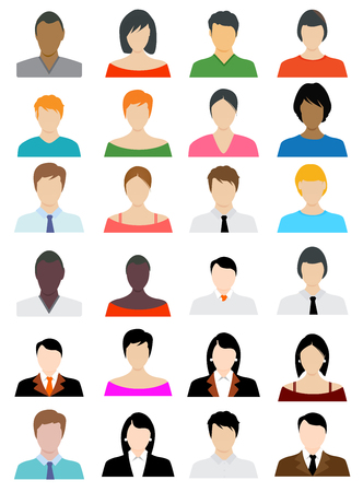 arts culture and entertainment: Set of flat Icons Avatar flat design