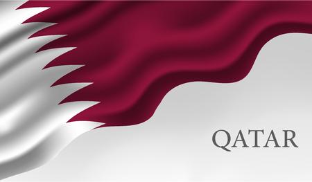 Nationalfeiertag von Katar, Unabhängigkeitstag von Katar, 18. Dezember. Übersetzung: Katar Nationalfeiertag 18. Dezember Katar Nationalfeiertag, Katar Unabhängigkeitstag, 18. Dezember Vektorgrafik